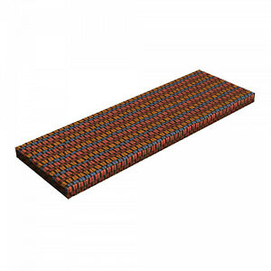"""Ambesonne Retro Scenes Bench Pad HR Foam with Fabric Cover 45"""" x 15"""" x 2"""""""