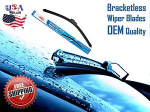 "22"" INCH Bracketless Windshield Wiper Blade 22A J-HOOK OEM QUALITY"