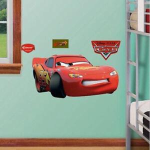 LIGHTNING MCQUEEN  giant wall stickers MURAL 3 decals  Fathead Jr Disney CARS