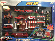 Maisto Fire Set Die Cast Metal & Plastic Vehicles / Planes with Playmat NEW!