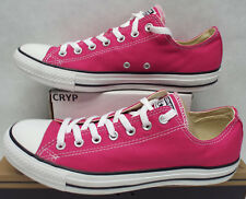 New Mens 12 Converse Chuck Taylor CT OX Cosmos Pink Canvas Shoes $55 144806F