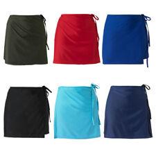 Scuba Women's Mix & Match Plain Beach Full Wrap Skirt Swim Cover Up UK Seller!
