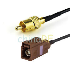 """Fakra hembra """"F"""" para RCA Macho Cable Pigtail RG174 5m para el coche TV2 Antena Aérea"""