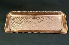 FABERWARE  HANDCRAFTED Hammered  SOLID CopperTRAY , made in AUSTRALIA 33x13.5