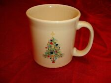 FIESTA JAVA CHRISTMAS TREE MUG Cup Light Butter Color NWT 5709051