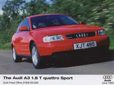 Audi A3 1.8T Quattro Sport Mk1 Launch Press Release/Photograph - 1999
