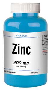 Zinc Citrate 200mg High Potency MAX BOOST IMMUNITY 120 Capsules High Potency