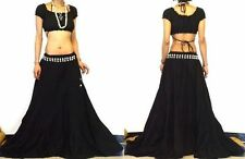ETHNIC/EXTRA LONG BLACK PANELED BOHO GYPSY HIPPIE SKIRT