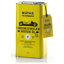Mathé Chromjuwelen olio motore 20W-50 5 LITRI OLIO PER AUTO D'EPOCA....IL TOP!