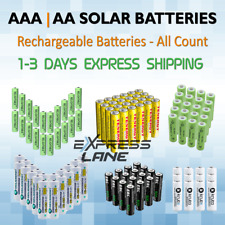 Solar Battery Rechargeable Aa or Aaa Ni-Mh / Ni-Cd Garden Outdoor Light lot Fast