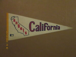 MLB California Angels Vintage Circa 1969 Team Logo Halo Baseball Pennant