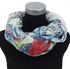 Loop elfenbein bunt Ella Jonte mehrfarbig Damenschal Schal Kunstdruck Viskose
