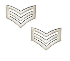 Police Sergeant Stripes / Chevrons (METAL) Epaulettes Sgt Rank Officer Cop