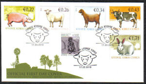 Cyprus Stamps SG 1212-16 2010 Domestic Animals Official FDC + (c443)