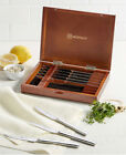 Wusthof Stainless 8pc Steak Knife Set in Walnut Chest-New! Retail Value $120
