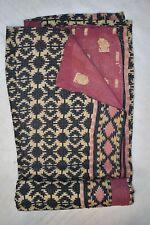 Patchwork Vintage Kantha Quilt Handmade Cotton Gudari Boho Reversible Rali Throw