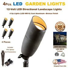 4 PCS LED Landscape Garden Accent Lights Yard Lamp Very Bright 5 Watts Each