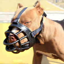 No Bite Bulldog PitBull Mouth Covers Strong Muzzle Basket Big Dog Pet Silicone