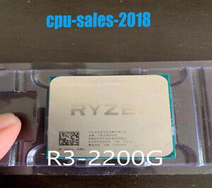 AMD Ryzen 3 2200g CPU r3 2200g 4 cores 4 threads 3.5ghz 65w interface am4 proces