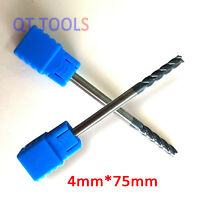 2pcs 4mm Tungsten Carbide 4 Flute End Mill CNC Milling Cutter Drill Bit Tool