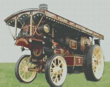 Showmans Traction Steam Engine Counted Cross Stitch Kit