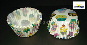 100 250 500 CUPCAKE CASES CAKE MUFFIN PATTERN PAPER BAKING FAIRY PARTY BIRTHDAY