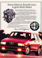 1987 Alfa Romeo Milano - faster - Classic Vintage Advertisement Ad A75-B