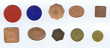 YNYSYBWL Co-Op Society Miners Checks / Tokens - Set of 10 Items