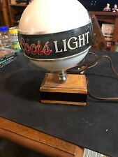 Vintage Coors Beer Advertising Bar Clock Lamp Sign Register Globe Light Rare!