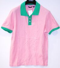 GSUS SINDUSTRIES Green PINK Polo BUTTON SHIRT Cotton FREE SHIPPING