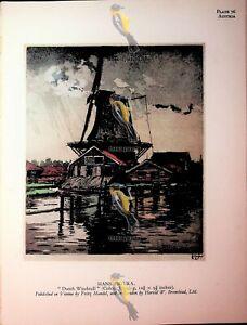 Dutch Windmill , Hans Figura, Book Illustration (Print), 1930
