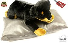 Fine Luxury Jumbo Warm Faux Leather Dog BED Cushion Pillow Cover Wash Wipe Clean