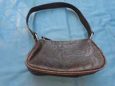 Nine west satchel handbag Small Floral Western Tooled Look