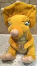 1996 The Land Before Time Cera Yellow Dinosaur Plush Vintage 9""