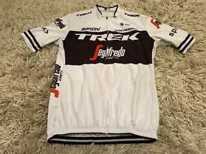 Santini TREK SEGAFREDO Zanetti Cycling Jersey XXL White Rare Print