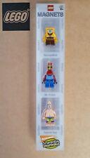 Aimants Lego Bob L'éponge  3 personnages - Bob - Mr Crabe - Patrick - Magnets