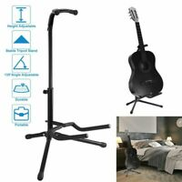 2-Tire Music Folding Stand for Acoustic Electric Bass Guitar Studio Hanger Black