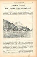 Lac de Lugano Uniforme Garde-Forestier Coiffure de Lombardie Chien GRAVURE 1905