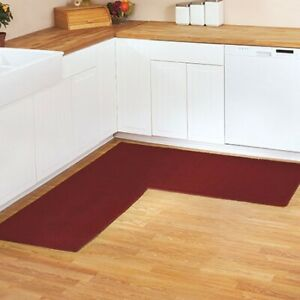 """68"""" x 68"""" Berber L-Shape Corner Runner for the Kitchen and Home"""
