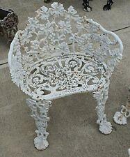Vintage Cast Iron Wreath Grape Vine Chair Garden Yard Victorian Free Shipping