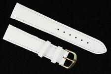 Uhrenarmband 18mm weiches Hirschleder Weiß Länge: M   Made in Germany Handarbeit