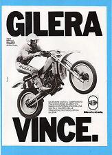 MOTITALIA983-PUBBLICITA'/ADVERTISING-1983- GILERA (VINCE)