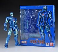 Marvel Iron Man Mark 3 Blue Stealth action figure S.H.Figuarts Bandai Avengers