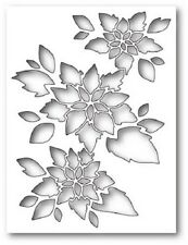 """MEMORY BOX 99585 """"Poinsettia Collage"""" 100% Steel Craft Die Size: 3.7 x 5 in."""
