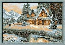 Counted Cross Stitch Kit RIOLIS - WINTER VIEW