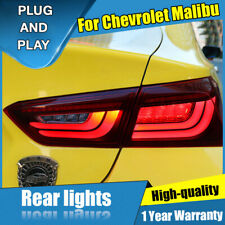 For Chevrolet Malibu Red LED Rear Lamps Assembly LED Tail Lights 2016-2018