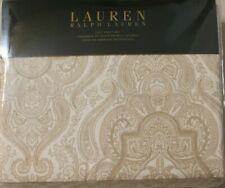 Ralph Lauren Full Sheet Set Country French Beige Paisley 4pc Bed Cottage Classic