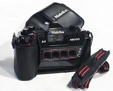 New listing Mint Nishika N8000 3-D 35Mm Camera w/ Ever Ready Case & Strap Film Tested