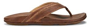 Olukai Hiapo Teak/Koa Comfort Flip Flop Men's US sizes 7-15 NIB!!!