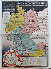 Map of the Occupied Areas Carte des Zones d'Occupation 1946 Original